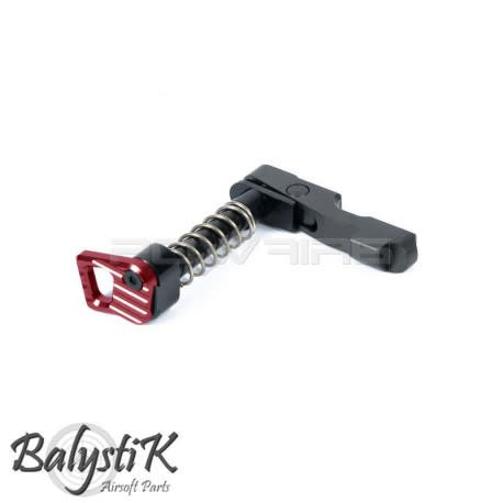 Balystik Balystik CNC ambidextrious mag catch for M4 AEG (RED)