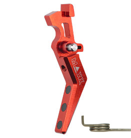 maxx CNC Aluminum Advanced Trigger (Style A) (Red)