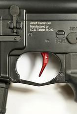 maxx MAXX MODEL CNC Aluminum Advanced Trigger (Style C) (RED) MX-TRG001SCT