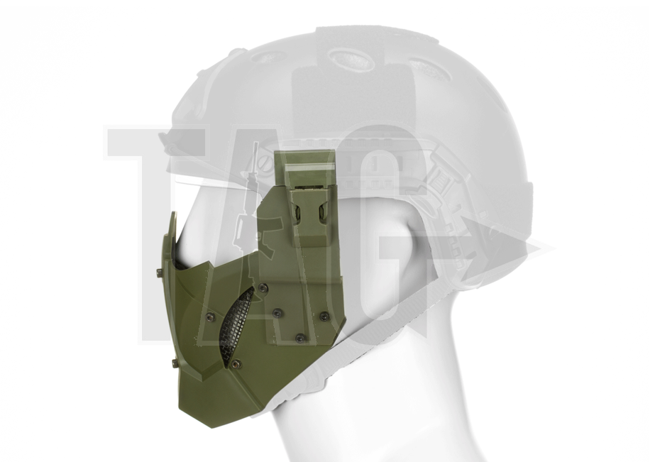 pirates arms Warrior Steel Half Face Mask OD