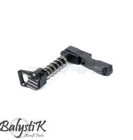 Balystik CNC ambidextrious mag catch for M4 AEG (Black)
