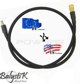Balystik adapter EU - US 8mm black braided line for HPA regulator