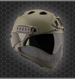 WARQ FULL FACE HELM OD Grün