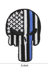 EMBLEEM STOF PUNISHER USA BLUE THIN LINE