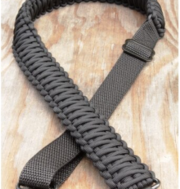 Camaleon Paracord Sniper sling met swivels Charcoal Gray/Black