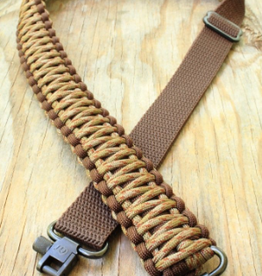 Camaleon Copy of Paracord Sniper sling met swivels Charcoal Gray/Black