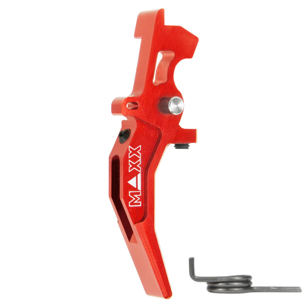 MAXX CNC Aluminum Advanced Speed Trigger (Style C) (Red)
