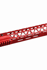 Balystik Skeleton M-LOK CNC rail for AEG / GBB / PTW 12 inch red