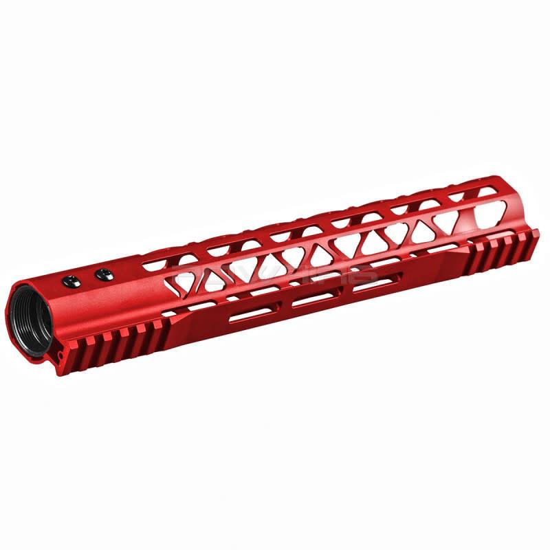 Balystik Copy of Skeleton M-LOK CNC rail for AEG / GBB / PTW 12 inch red