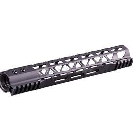Balystik Skeleton M-LOK CNC rail for AEG / GBB / PTW 12 inch Black