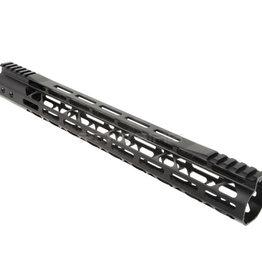 Balystik Balystik Skeleton M-LOK CNC rail for AEG / GBB / PTW 15 inch Black