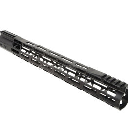 Balystik Copy of Balystik Skeleton M-LOK CNC rail for AEG / GBB / PTW 15 inch red