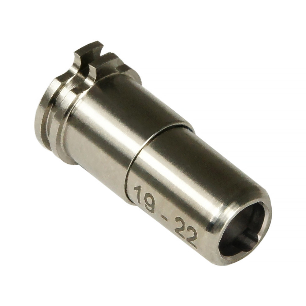 MAXX CNC Titanium Adjustable Air Seal Nozzle 19mm - 22mm For Airsoft AEG Series