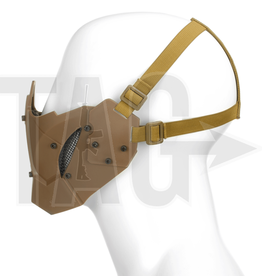 pirates arms Pirate Arms Warrior Steel Half Face Mask  Tan