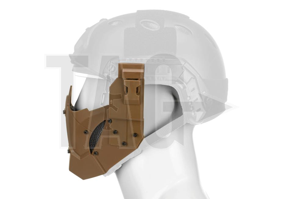 pirates arms Warrior Steel Half Face Mask  Tan