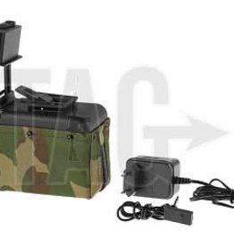 A&K M249 Box Mag 1500rds Woodland