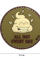 101 inc Patch 3D PVC All Day Every Day groen/bruin