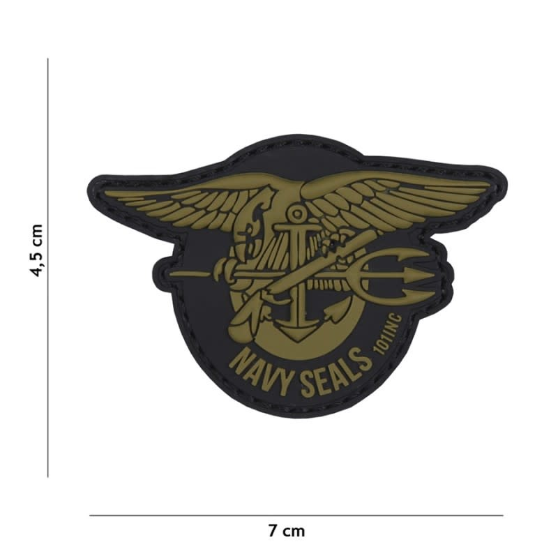 101 inc Patch 3D PVC Navy Seals groen