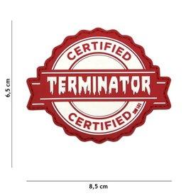 101 inc Patch 3D PVC Terminator rood