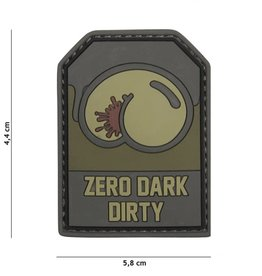101 inc Patch 3D PVC Zero Dark Dirty groen