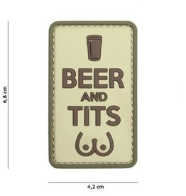 101 inc Patch 3D PVC Beer and Tits coyote