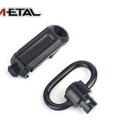 Metal tactical rail sling attachment quick detach mount