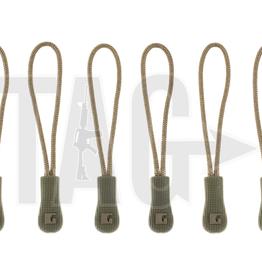 Claw Gear Zipper Puller Medium 6-Pack RAL7013 Ranger Green