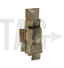 Warrior Assault Systeem MOLLE Single 9mm Direct Action Pistol Mag Pouch (Multicam)