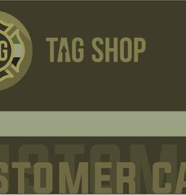 TAG-SHOP Klantenkaart / customer card