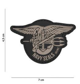101 inc Patch 3D PVC Navy Seals Grey