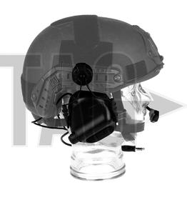 OPSMEN Earmor M32H- Mod1 -Black Tactical Hearing Protection Helmet Version