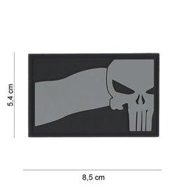Copy of 3D PVC Punisher USA vlag grijs #8083