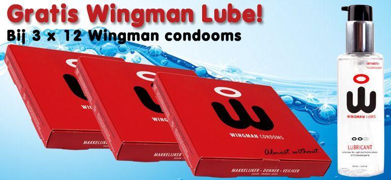 Gratis Wingman Lube bij 3 doosjes Wingman condooms