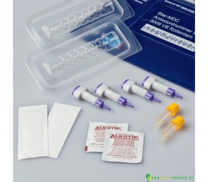 Combitest Syfilis, HIV, Chlamydia, Gonorroe en Trichomonas test - professionele laboratorium test