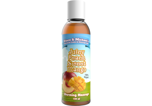 Swede Vince & Michael's Juicy Peach Sweet Mango verwarmende massage lotion