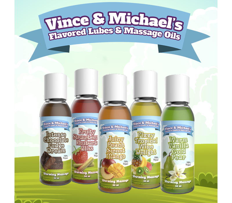 Vince & Michael's Intense Chocolate Fudge Dream flavored warming massage lotion (150ml)
