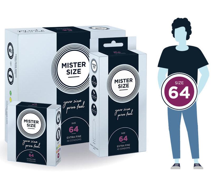 64mm - ruimere XXL condooms ultradun