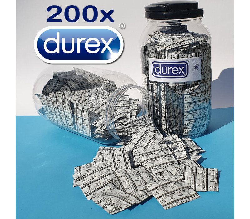Pot met 200 Durex condooms