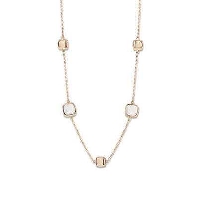 18kt rosé gouden halsketting van One More