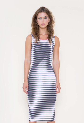 GSUS Striped Long Rib Dress