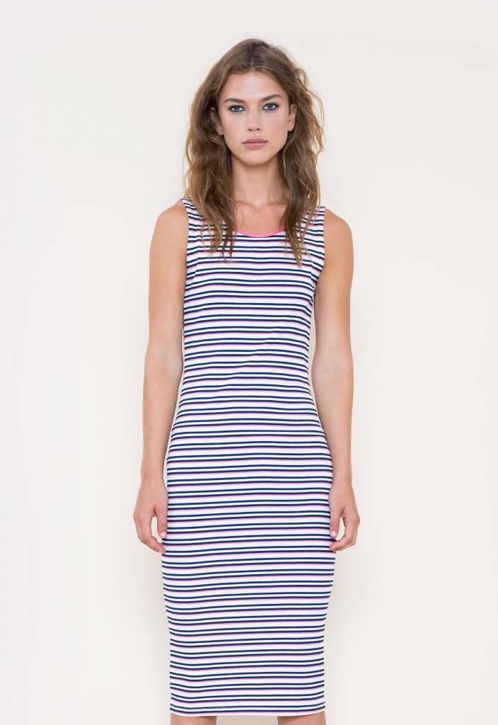 GSUS Striped Long Rib Dress