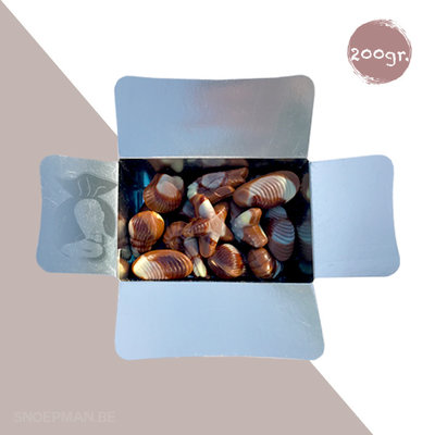 200gr chocolade zeevruchten verpakt in ballotin - Copy