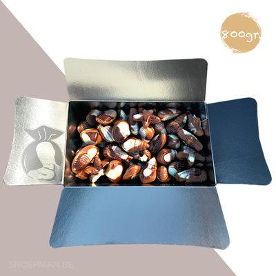 Trefin 800gr chocolade zeevruchten verpakt in ballotin
