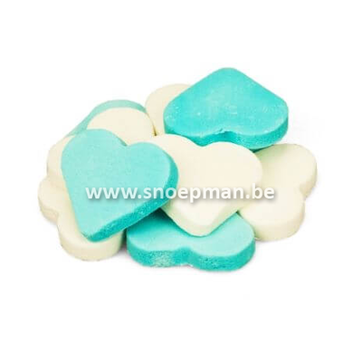 Fortuin Grote harten snoep blauw-wit van hofleverancier Fortuin - 250 gr