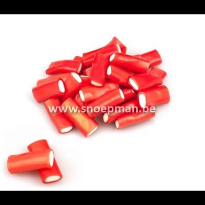 Fini Sweets Koop rode snoep kabels aardbeien smaak per kilo