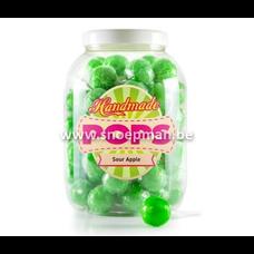 Groene gelatinevrije appel lollies