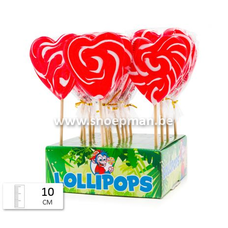 7259 - Felko Lolly Heart Spiral Red-White 80 gr.