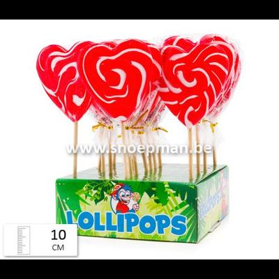 7259 - Felko Lolly Heart Spiral Red-White 80 gr.