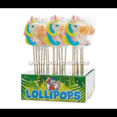 De mythische unicorn snoep lolly