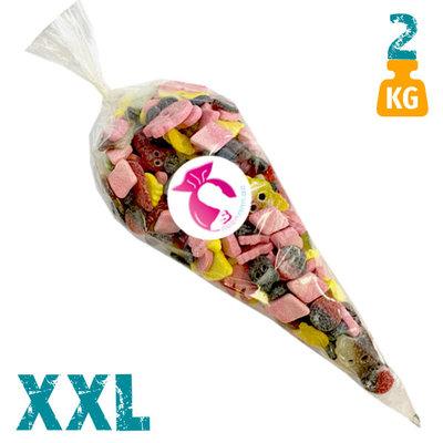 XXL snoepzak van 2 kg met zure Bubs snoepjes